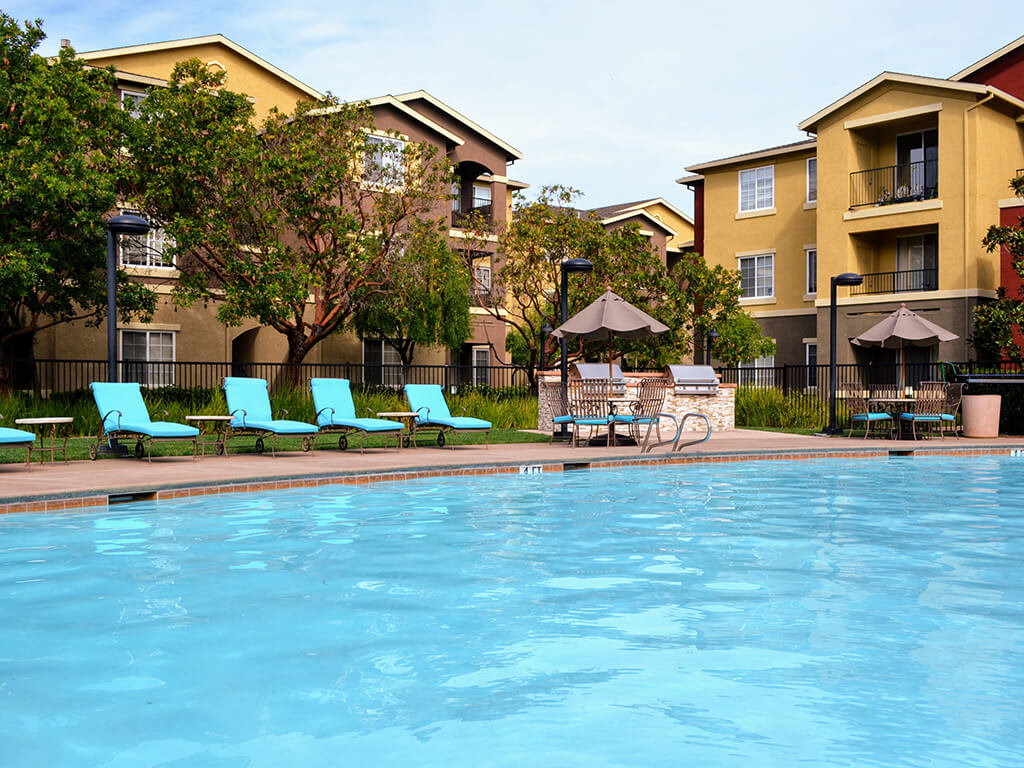 Poolside Sundeck at Sterling Village Apartment Homes, 88 Valle Vista Avenue, 94590