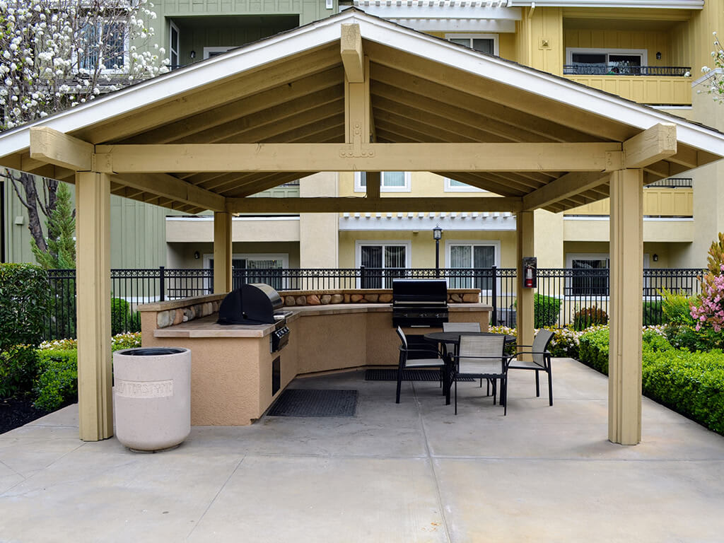 Covered BBQ Area at Waterstone Apartment Homes, Tracy, CA