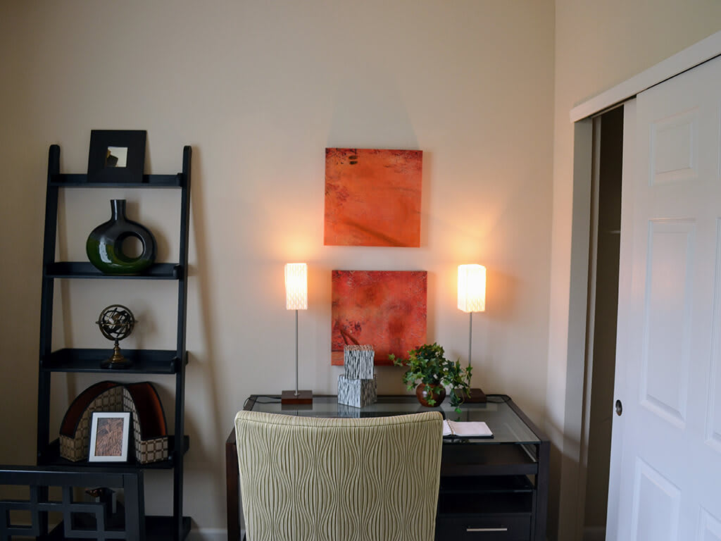 Built-in Desk and Shelving at Waterstone Apartment Homes, Tracy, California