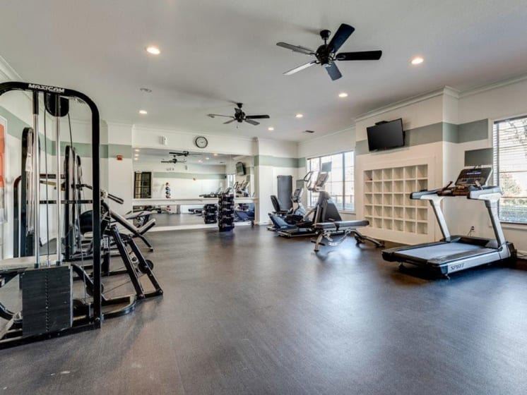 Fully-Equipped Fitness Center at Lost Spurs Ranch Apartments in Arlington, Texas