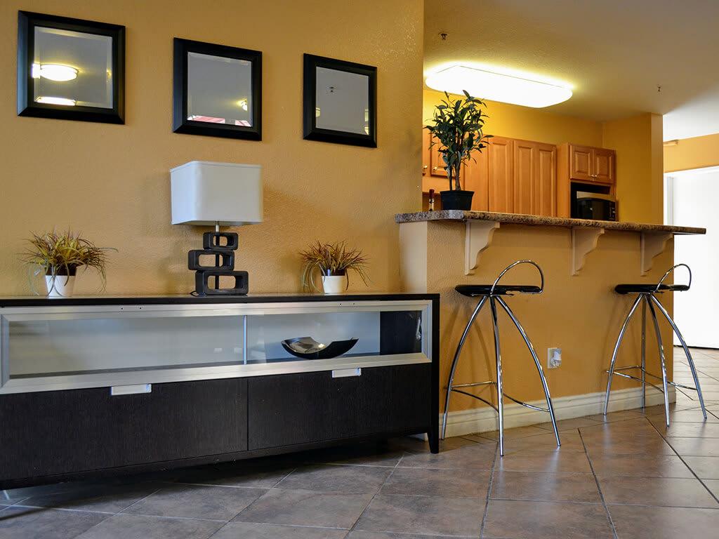 Built-in Shelving at Del Norte Place Apartments, El Cerrito, California