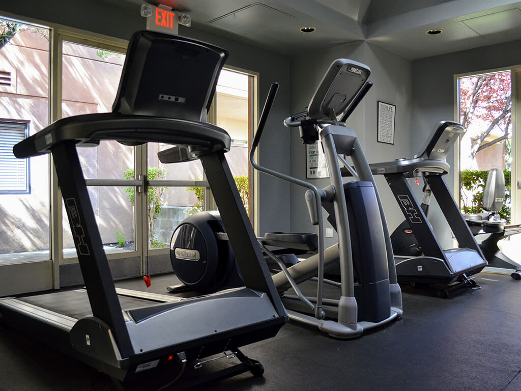 Cardio Equipment at Del Norte Place Apartments, El Cerrito, CA