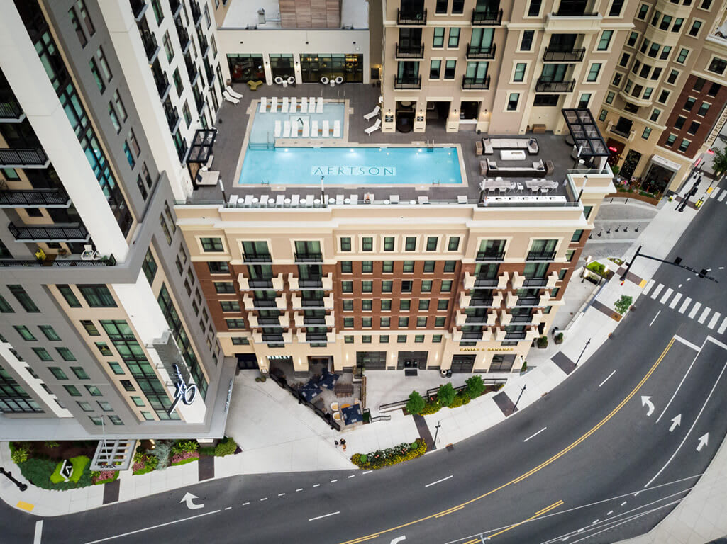 Drone Exterior View at Aertson Midtown, Nashville, 37203