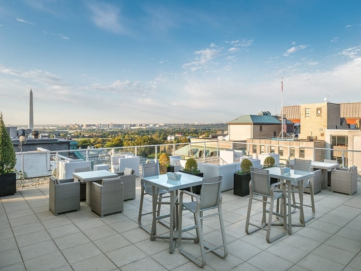 One-of-a-kind rooftop views at The Woodward Building Apartments, District of Columbia