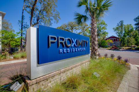 Proximity Residences sign outside