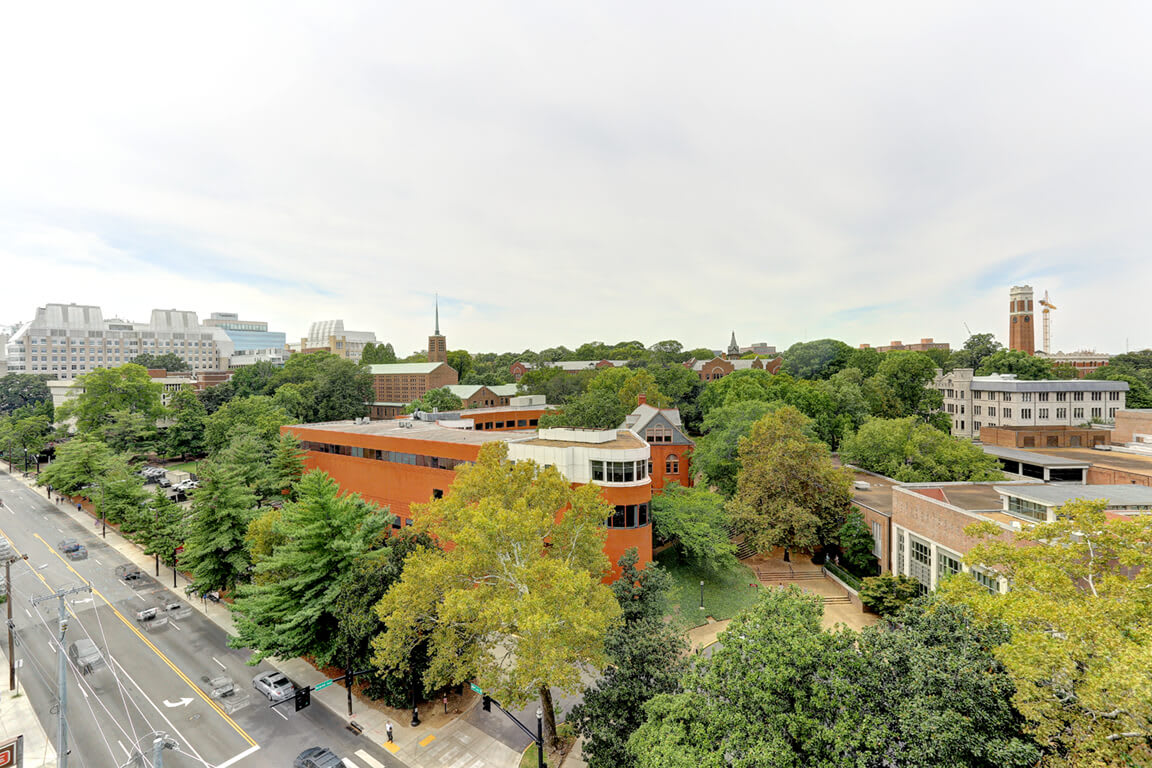 Beautiful Drone View at Aertson Midtown, Nashville, Tennessee