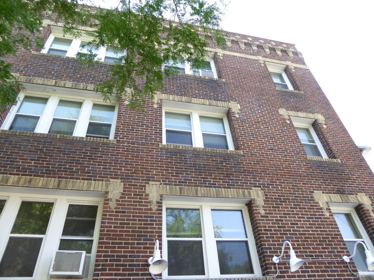 Large Exterior Windows with White Trim at Minneapolis Apartment