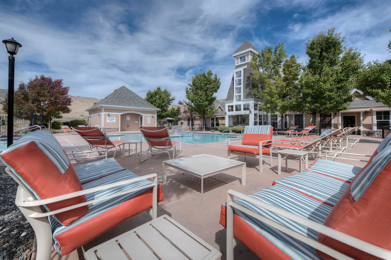 Lounge Area by Pool at Manzanita Gate Apartment Homes, NV 89523