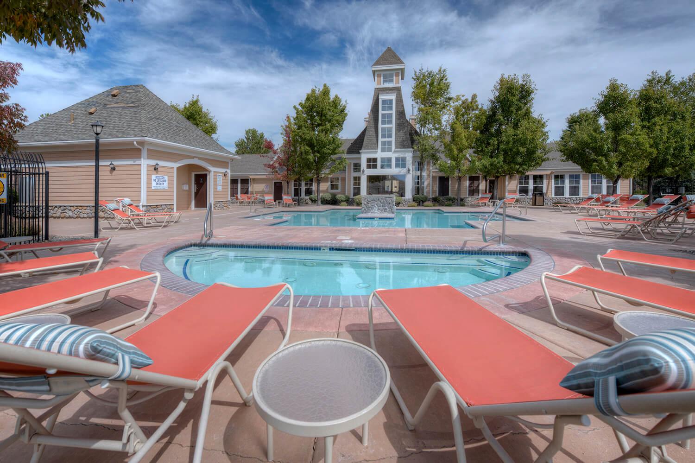 Poolside Lounge Chairs  at Manzanita Gate Apartment Homes, 2475 Robb Drive, NV
