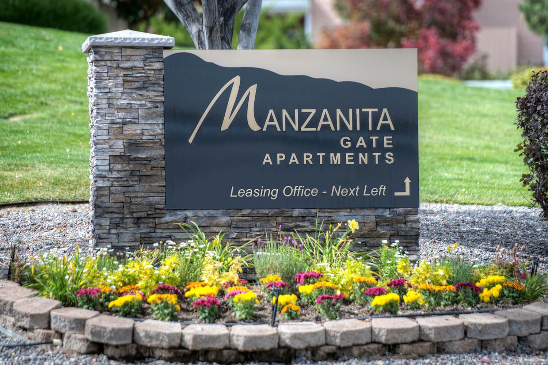 Manzanita Gate Apartments Sign at Manzanita Gate Apartment Homes, Reno, NV