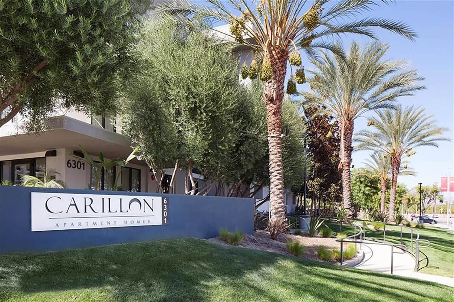 Entrance with Architectural Details at Carillon, Woodland Hills