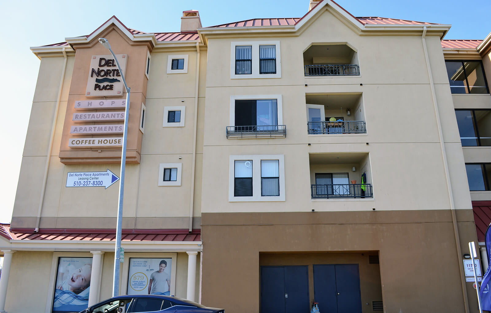 Building Exterior at Del Norte Place Apartments, CA, 94530