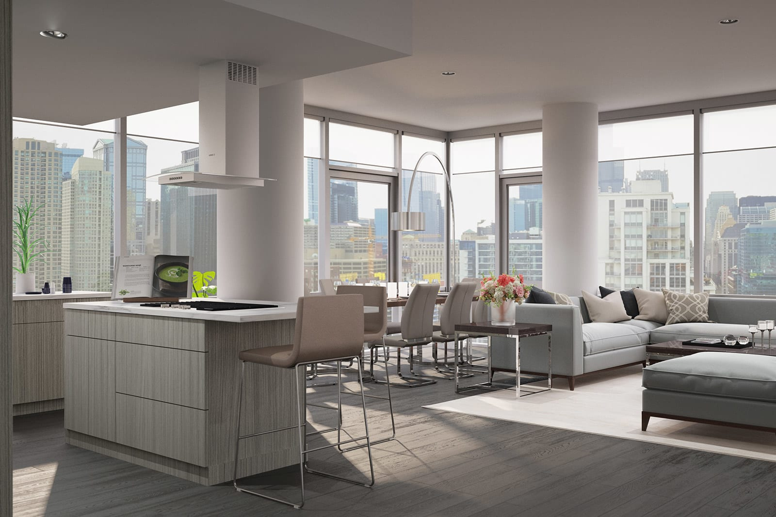 Open-Concept Floor Plans at 640 North Wells, 640 N Wells, Chicago