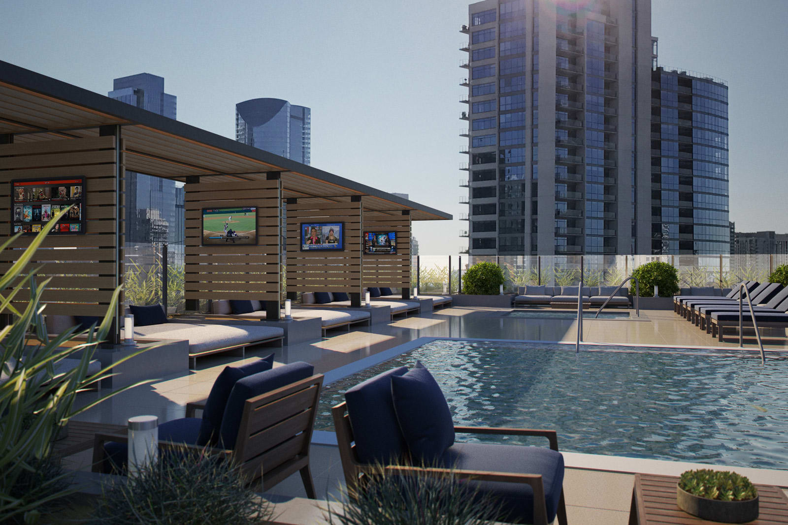 Poolside Cabanas with Large TVs at 640 North Wells, 640 N Wells, Chicago