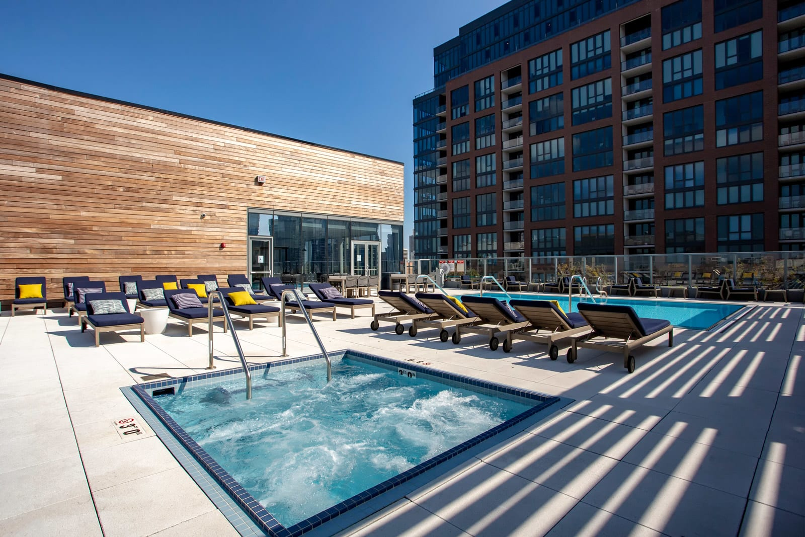 Heated, Rooftop Hot Tub at 640 North Wells, Chicago, IL