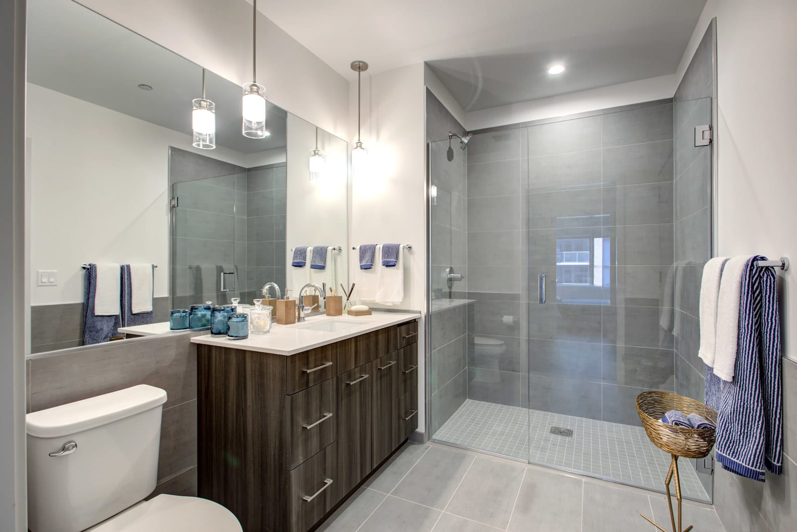 Walk-in showers at 640 North Wells, Illinois, 60654