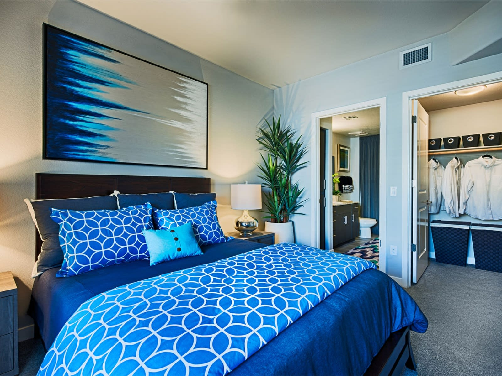 Tempe Apartments for Rent - Skywater at Town Lake Bedroom with Large Closet