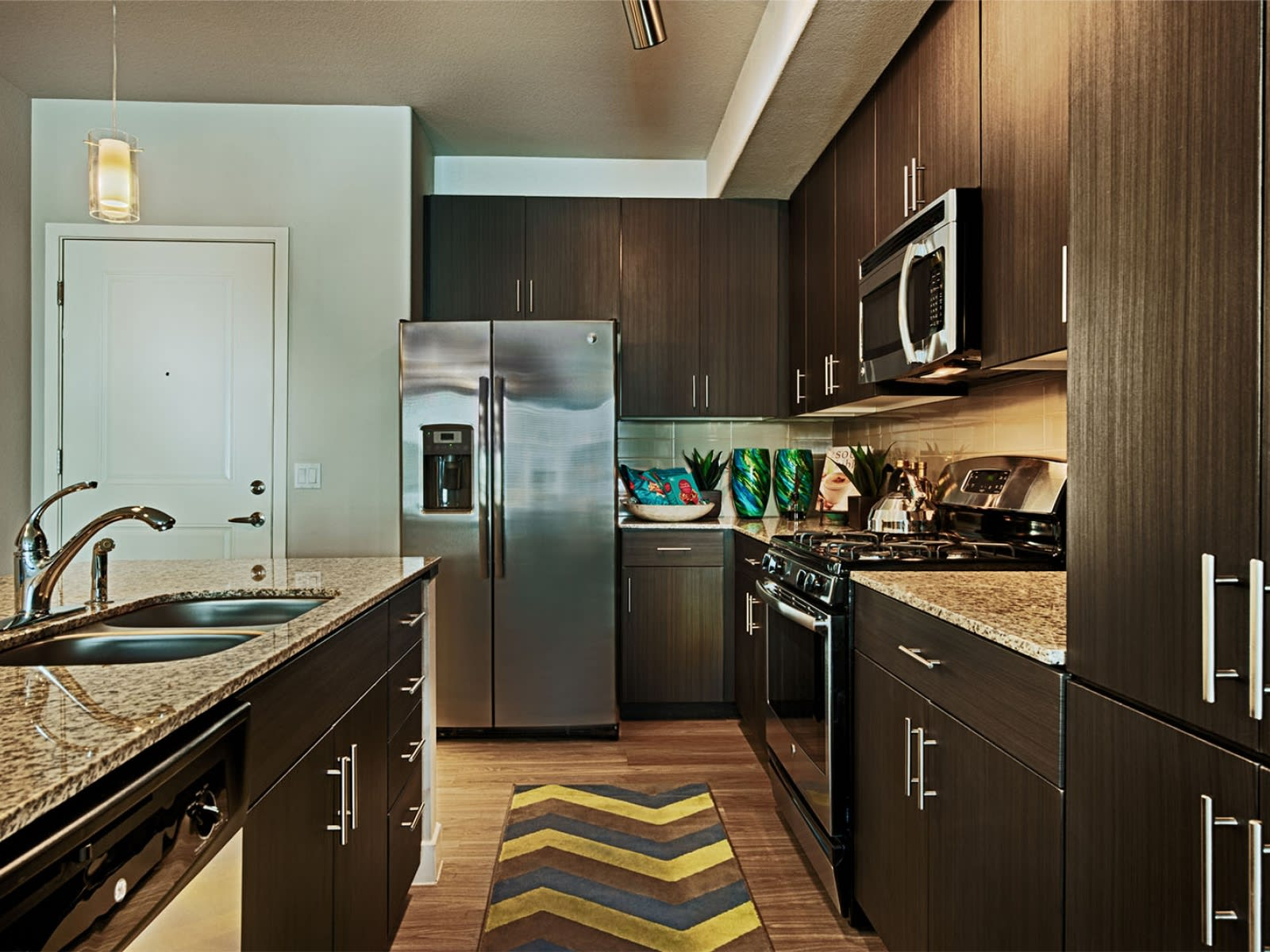 Tempe Arizona Apartments - Skywater at Town Lake Kitchen with Matching Appliances and Storage Space