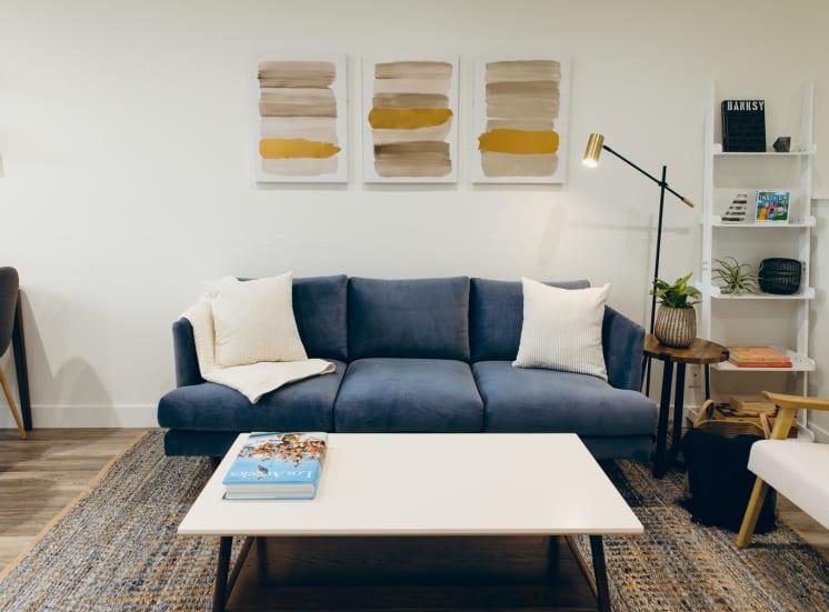 Living room with wood-inspired floorings