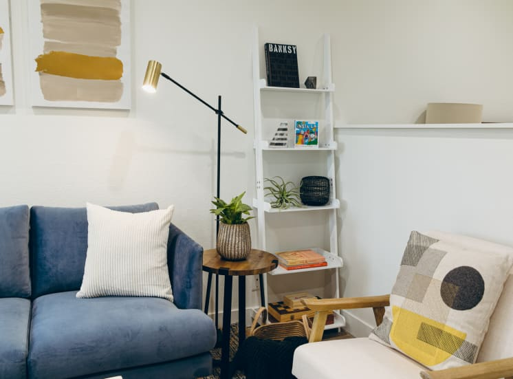 Living room- Furnished Apartment Rentals in Westwood, CA