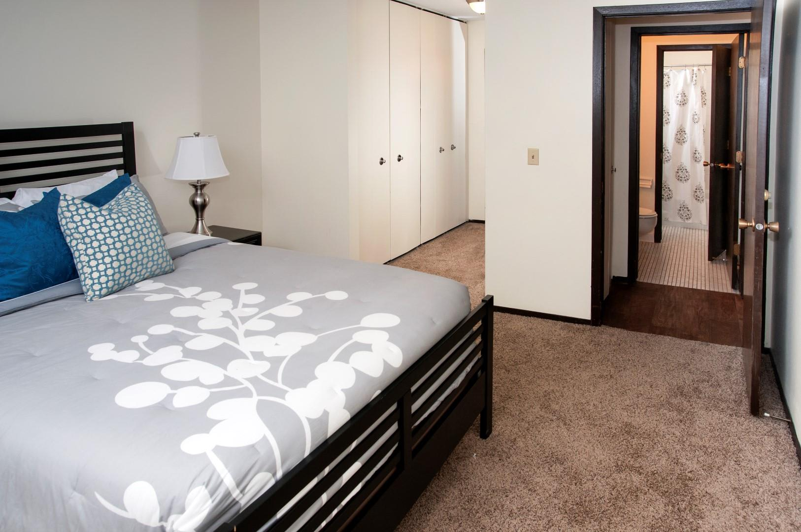 Bursville Parkway Apartments Master Bedroom with Wide Double Door Closets
