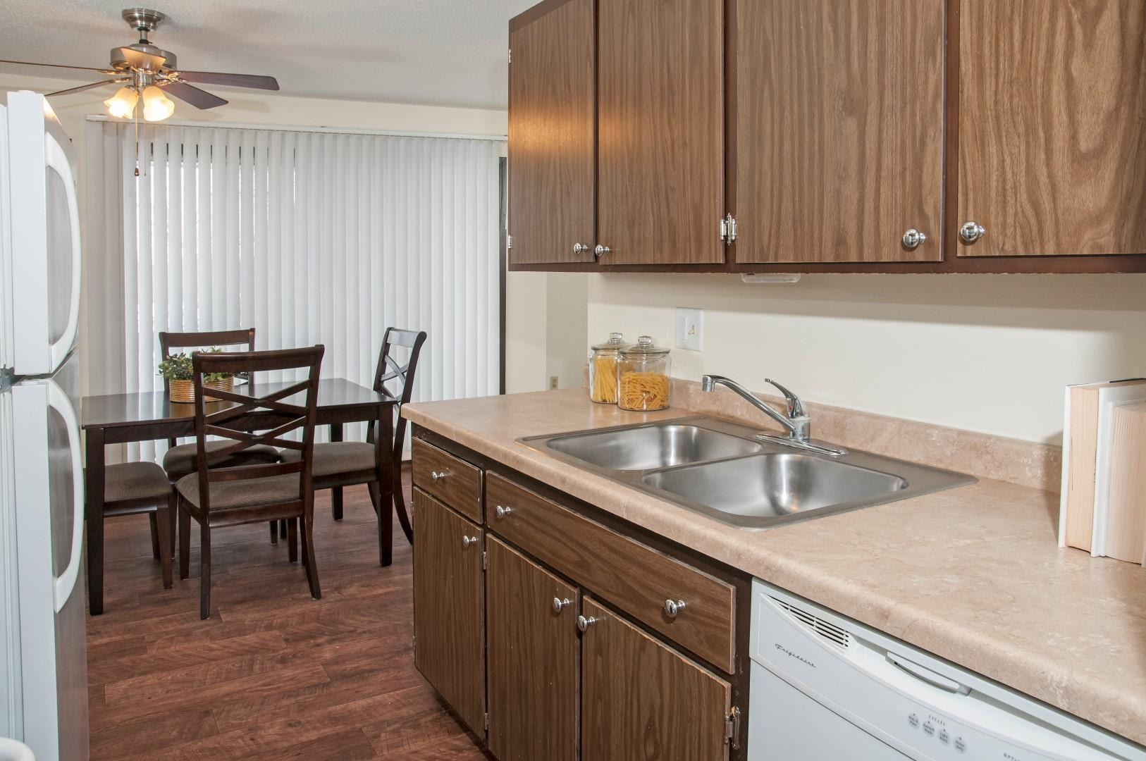 Large Counter-tops and Deep Sink in Kitchen of Burnsville Parkway Apartments