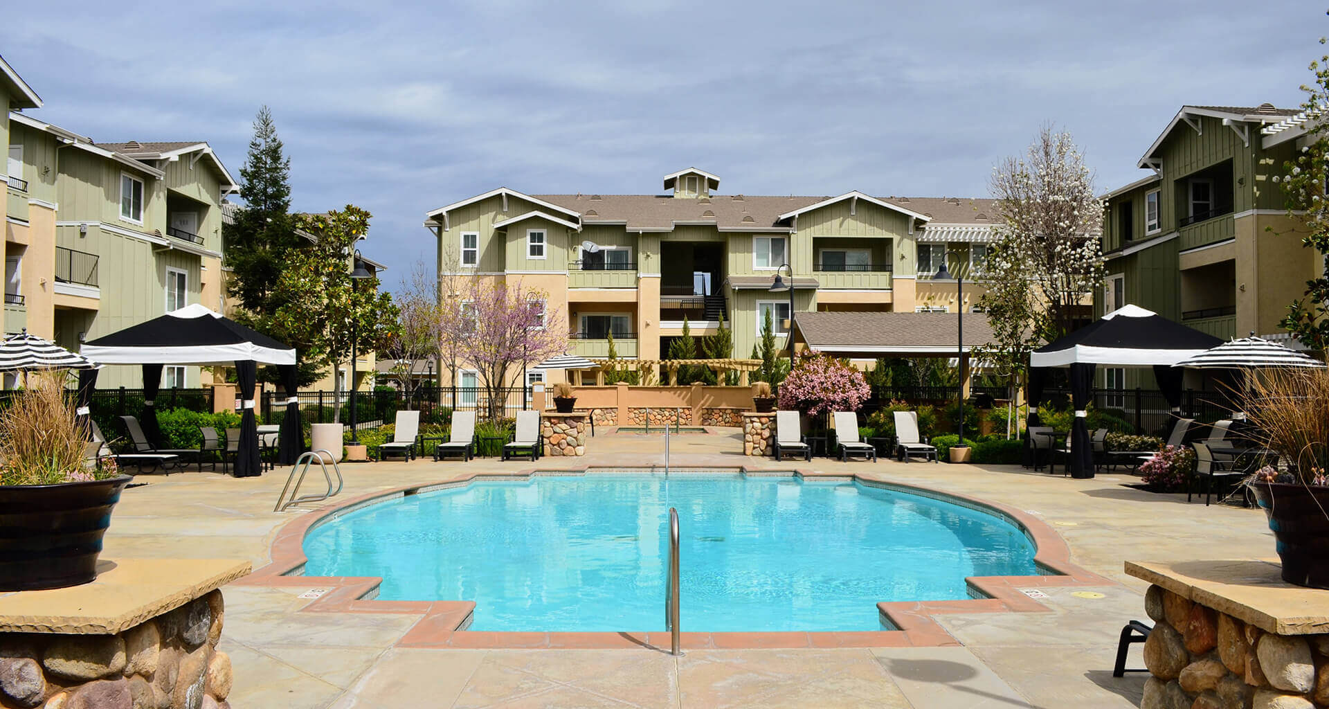 Sparkling Swimming Pool at Waterstone Apartment Homes, Tracy, CA