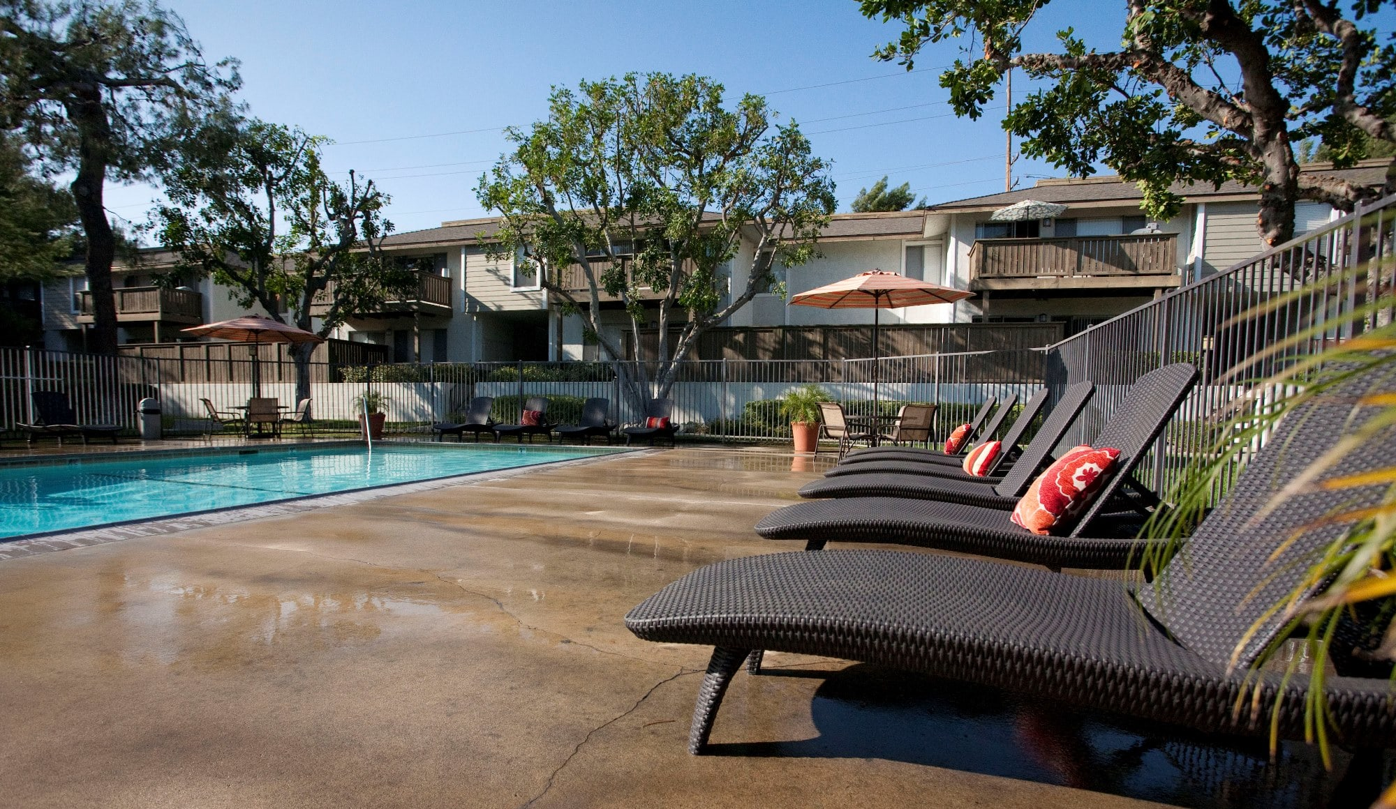Sparkling Pool side at Stoneridge Apartments, Upland, CA, 91786