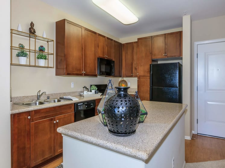 Spacious kitchen at Meridian Place Apartments, Northridge, CA