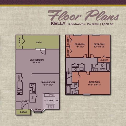 Kelly FloorPlan at Gramercy Apartments, Carmel, IN