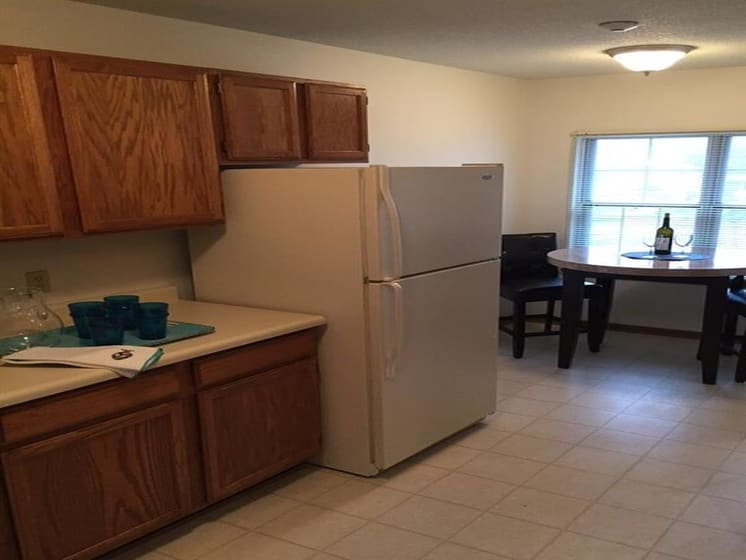 Refrigerator With Storage Space at Deer Run Apartments, Wisconsin