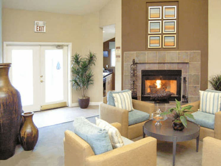 Clubhouse With Fireplace at Village at Desert Lakes, Las Vegas, Nevada