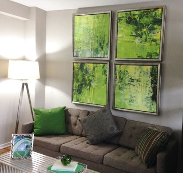 Large open walls with plenty of room to decorate at Bridgeyard in Alexandria, VA