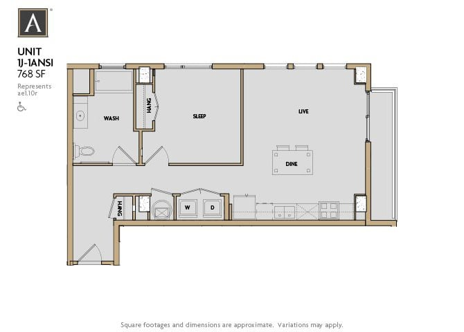 1J | 1ANSI FloorPlan at Aertson Midtown, Nashville