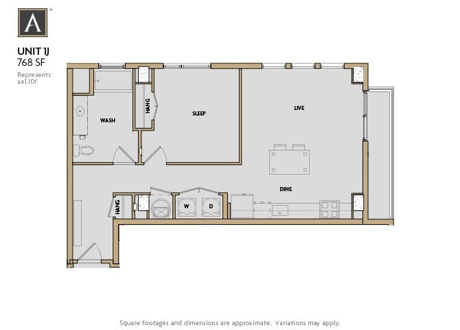 1J FloorPlan at Aertson Midtown, Tennessee