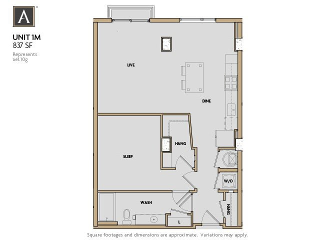 1M FloorPlan at Aertson Midtown, Tennessee