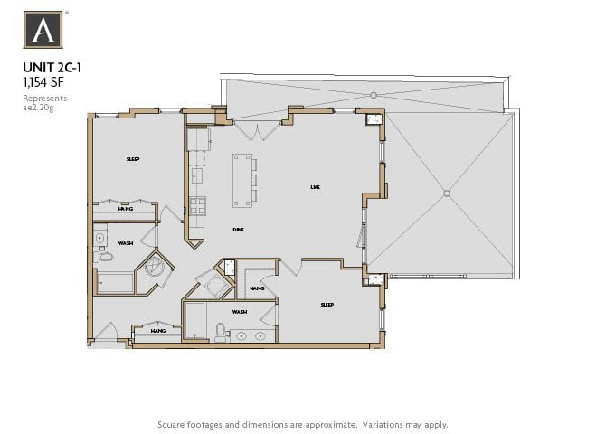 2C-1 FloorPlan at Aertson Midtown, Tennessee