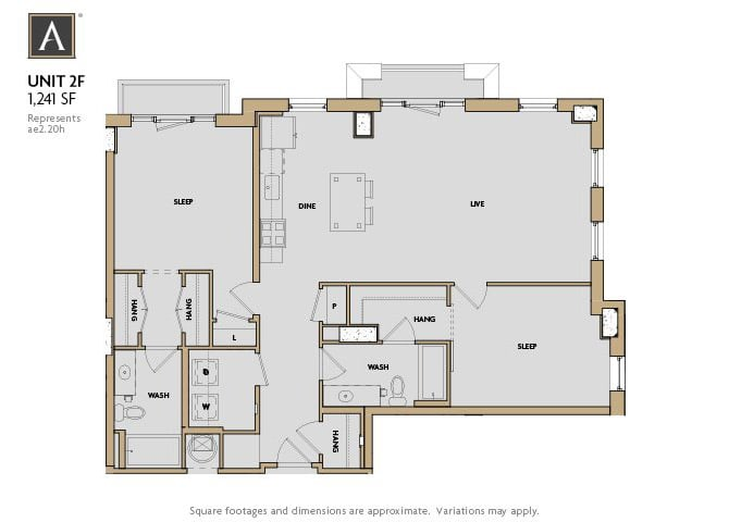 2F FloorPlan at Aertson Midtown, Tennessee, 37203