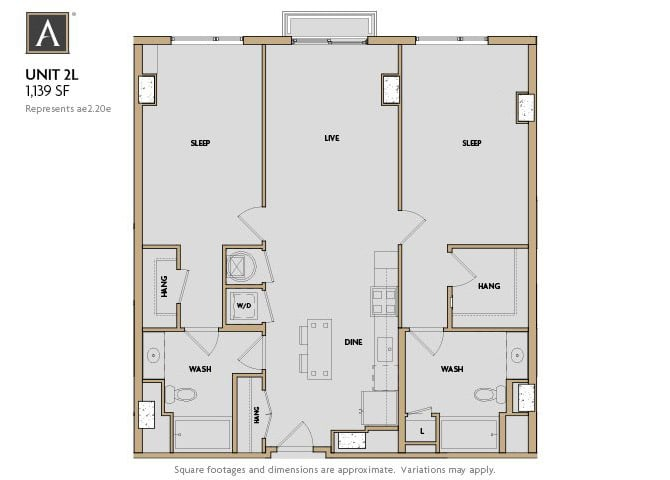 2L FloorPlan at Aertson Midtown, Nashville