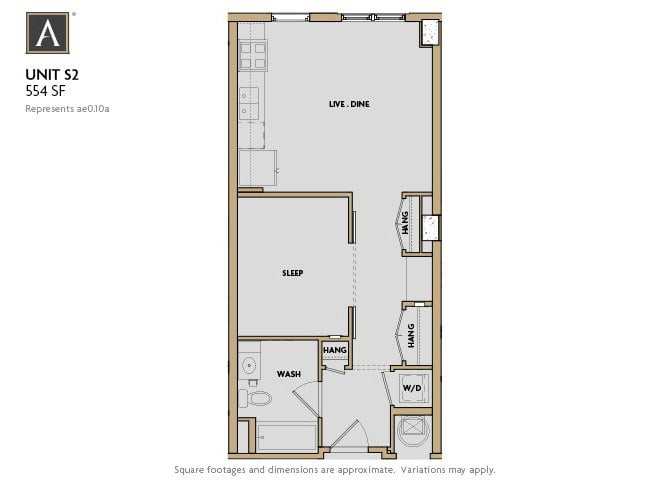 S2 FloorPlan at Aertson Midtown, Nashville, Tennessee