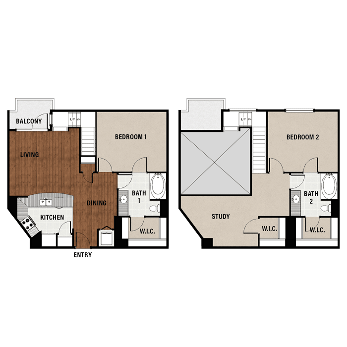2 bedroom apartments in downtown houston