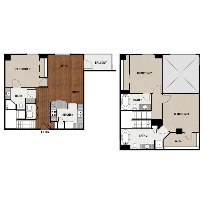 3 bedroom apartments in downtown houston