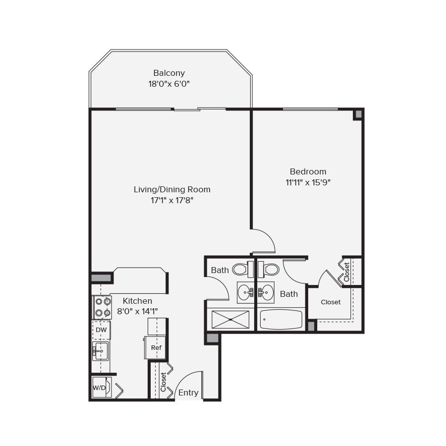 10 West Floor Plan 1A