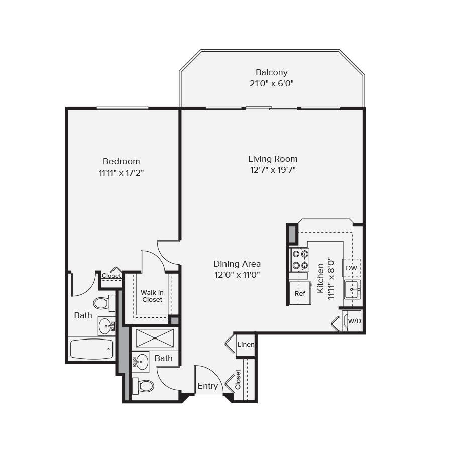 10 West Floor Plan 1B