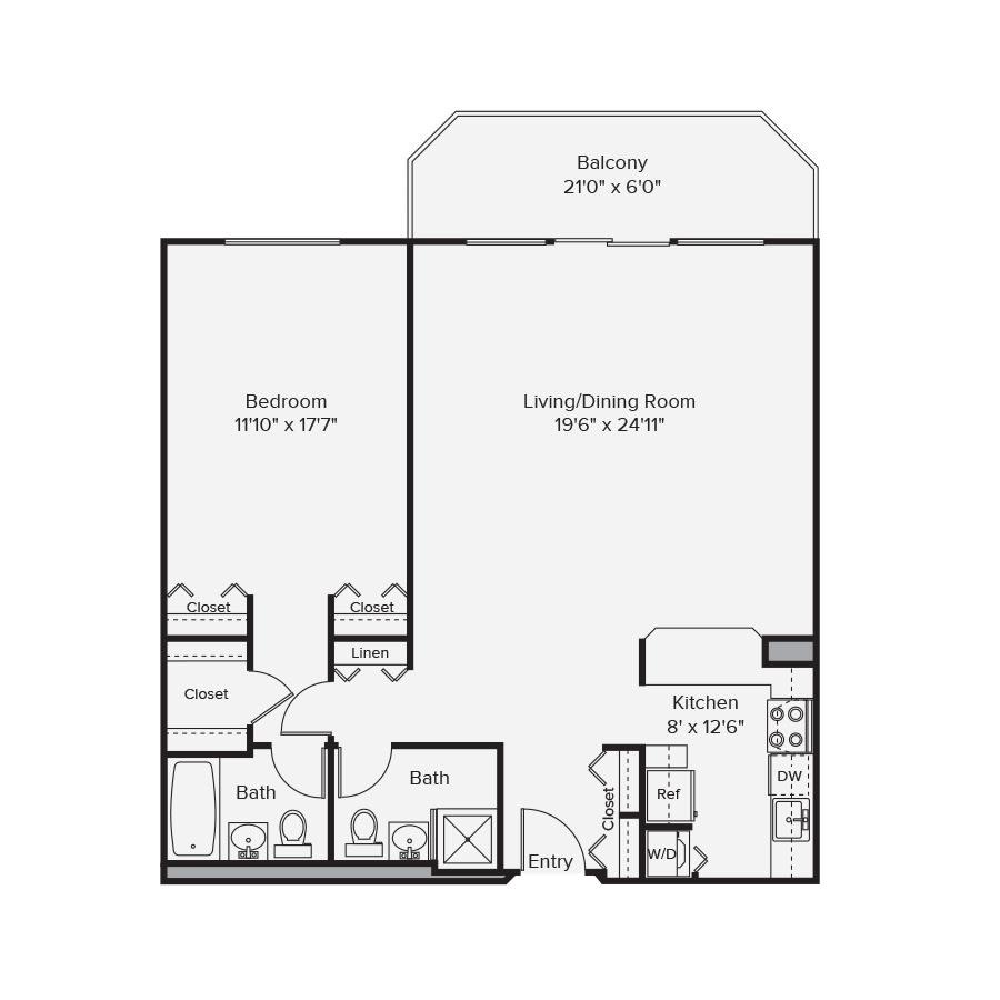 10 West Floor Plan 1C