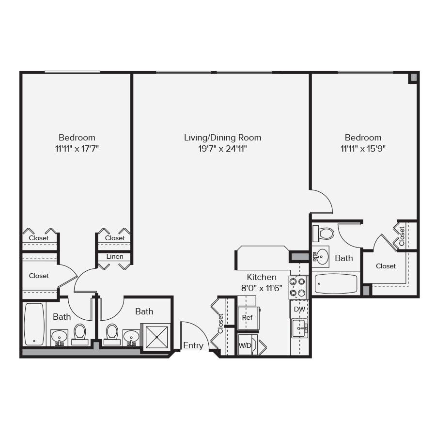 10 West Floor Plan 2A