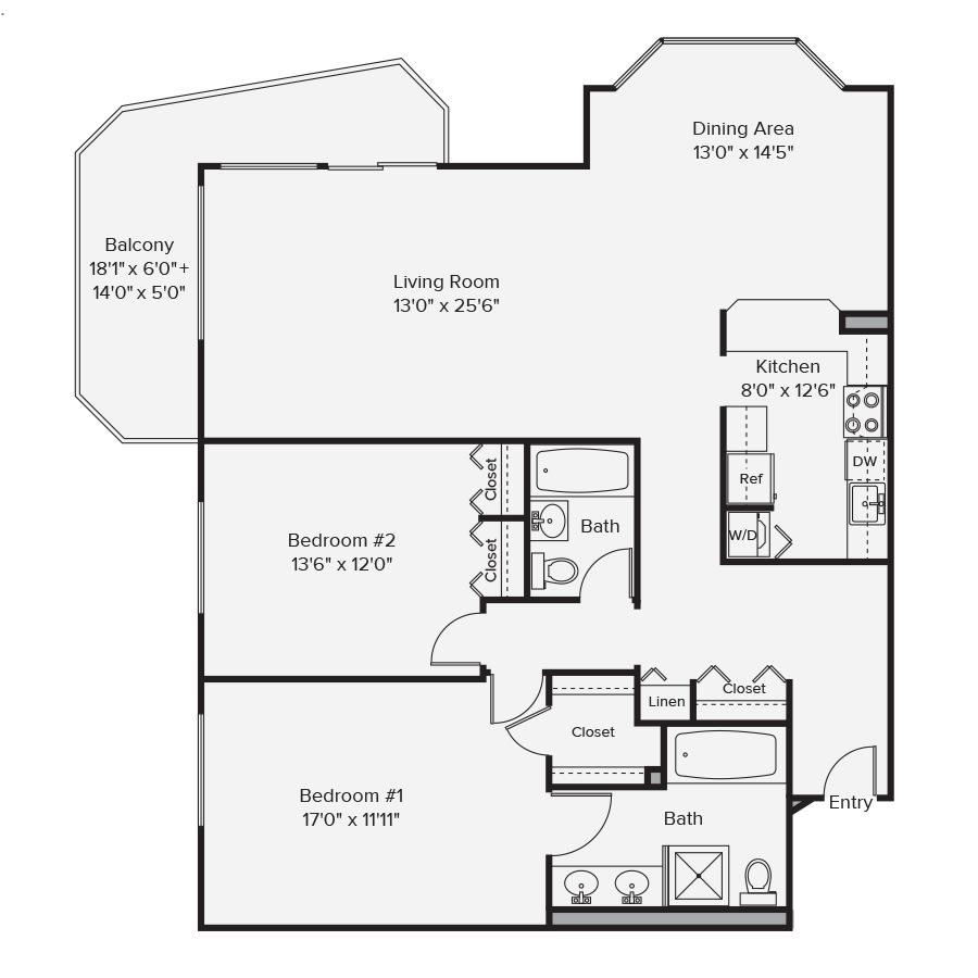10 West Floor Plan 2B
