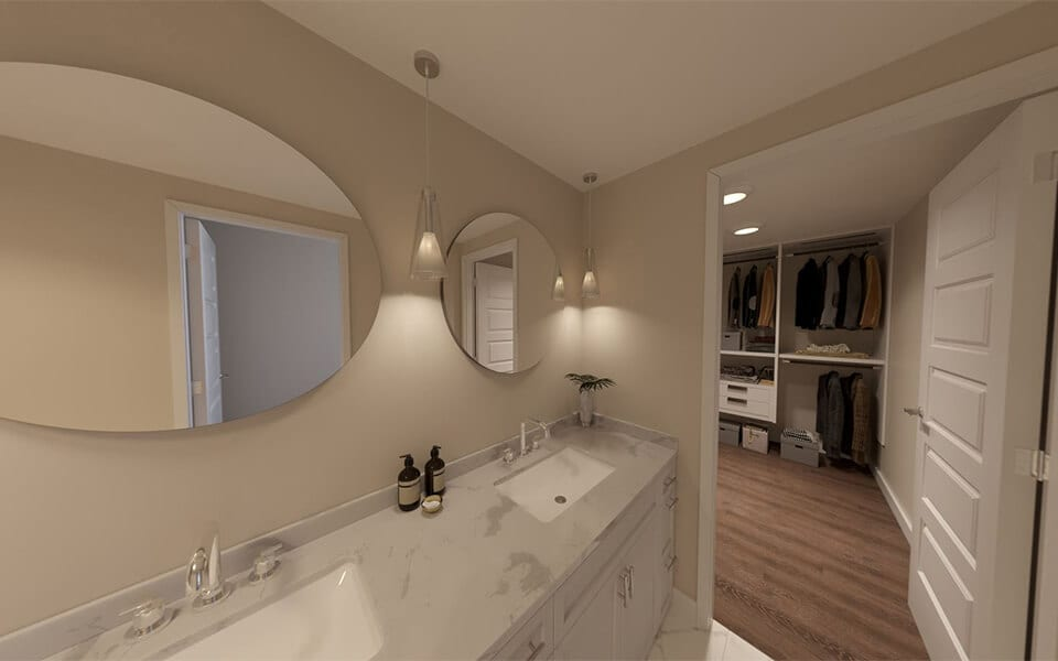 Updated bathroom vanities at CityWay, Indianapolis Indiana