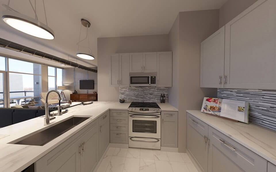 Integrated appliances at CityWay, Indiana, 46204