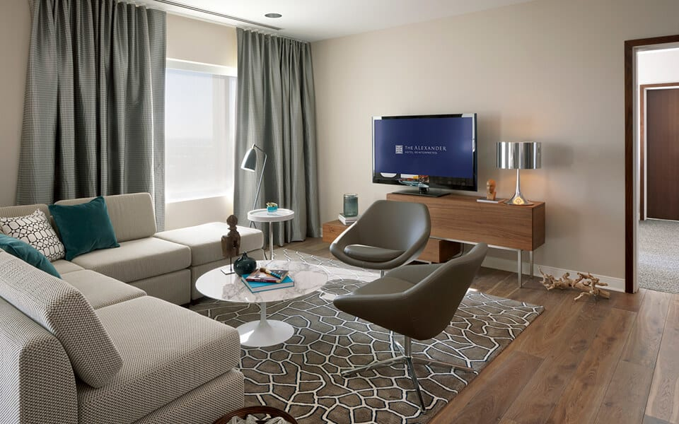 Lively Living Rooms at CityWay, Indianapolis, IN 46204